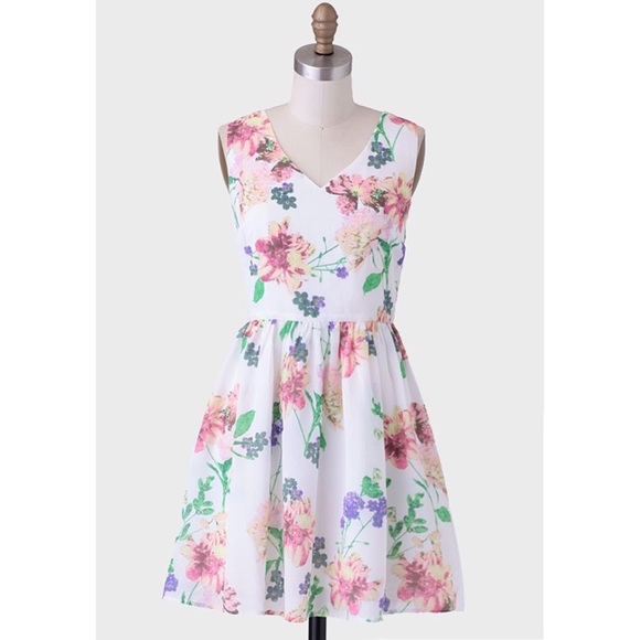 3764671d3 Jack by BB Dakota Dresses | V Neck Fit And Flare Floral Pastel Dress ...